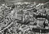 """61 Orne / CPSM FRANCE 61 """"Sees, vue aérienne, cathédrale et palais Episcopal"""""""