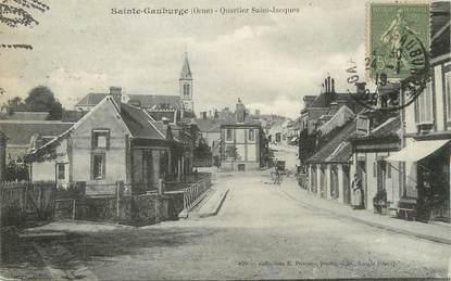 """/ CPA FRANCE 61 """"Sainte Gauburge, quartier Saint Jacques"""""""