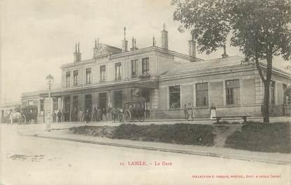 """/ CPA FRANCE 61 """"Laigle, la gare"""""""