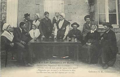 """/ CPA FRANCE 18 """"Au pays du Berry, les épouseux"""" / FOLKLORE"""