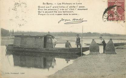 """/ CPA FRANCE 18 """"Au pays du Berry"""" / PÊCHE"""