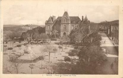 """CPA ALGERIE """"Saïda, Place de l'Hotel de ville"""""""