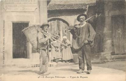 """/ CPA FRANCE 63 """"L'auvergne pittoresque, type de paysans"""""""