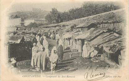 """CPA ALGERIE """"Constantine, campement des Beni Ramassés"""""""