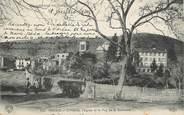 """63 Puy De DÔme / CPA FRANCE 63 """"Volvic, l'hôpital, l'église et le Puy de la Bannière"""""""