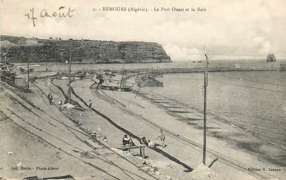 """CPA ALGERIE """"Nemours, le Port ouest et la baie"""""""