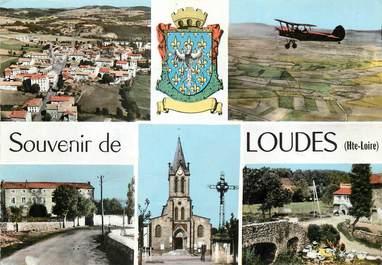"""CPSM FRANCE 43 """"Loudes"""" / Vues de la commune"""
