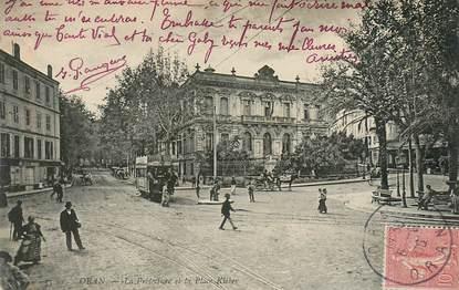 """CPA ALGERIE """"Oran, la préfecture et la place Kléber"""""""