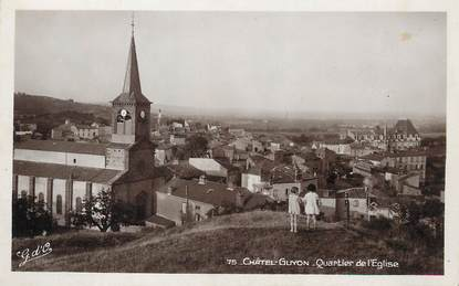 "/ CPSM FRANCE 63 ""Chatel Guyon, quartier de l'église"""