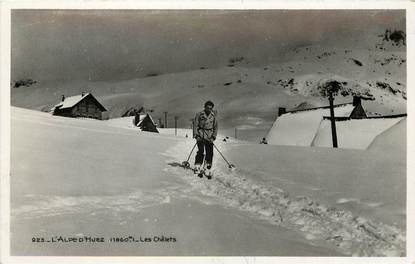 """CPSM FRANCE 38 """"L'Alpe d'Huez"""" / SKI"""
